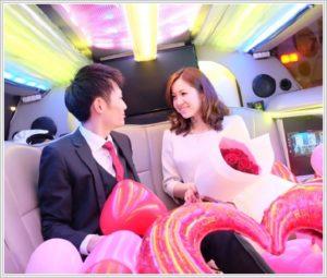リムジンカップルパーティークルーズ誕生日にピッタリの彼氏彼女の大切な記念日